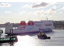 Stena Jutlandica lämnar Göteborg för varv i Danmark 150720