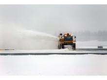 Snørydding ved Oslo Lufthavn