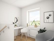 Brf Sundby Äng - 3D-bild av kontorshörna