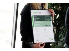 BREEAM-NOR Excellent-sertifikat til Frontbygget