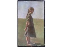 Flicka i helfigur, Marie Kroyer, Galleri Claes Moser, Grand Antiques, Millesgården.