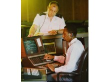 1990 Communications Officer at work