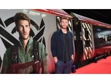 Liam Hemsworth took to Platform 16 at London Euston station today as Virgin Trains unveiled its new complimentary on-board entertainment service, BEAM.