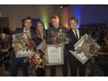 Dan Josefsson, Anna Nordbeck, Johannes Hallbom och Jakob Larsson, Sveriges Television, vinnare av Stora Journalistpriset 2017