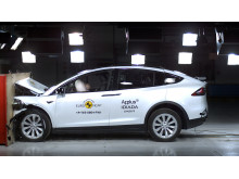 Tesla Model X full width impact test Dec 2019