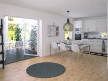 Villa Solgläntan, kök och vinterträdgård