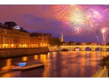 Romantisk utsikt i Paris