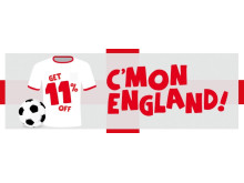C'mon England - net yourself a deal in our football rail sale