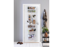 Elfa Utility Door and Wall rack i hvid