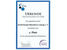 """Bärenherz belegt 2. Platz bei """"I run for life"""": Bundesgesundheitsminister übergibt den Preis"""
