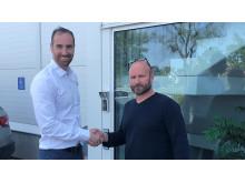 Andreas Aristiadis, vd och affärsområdeschef för Assemblin VS, och Jonny Werme, ägare och vd i IVM och KP Svets och Smide.