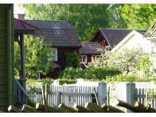 Systrarna Petterssons trädgård. Foto friluftsmuseet Gamla Linköping