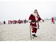 Julemand i sandet