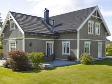 JOTUN 1462 Grå Skifer - JOTUN 1001 Egghvit - TREBITT Terrassebeis 9073 Shimmergrå