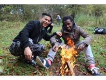 Ensamkommande ungdomar på Skåneleden
