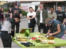 Riv Järnet - en omtyckt aktivitet under Kör Eko's roadshow