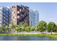 Новый район Баркод на берегу фьорда в Осло