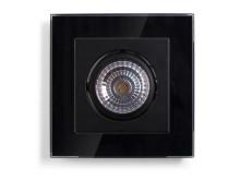 ELKO BRIGHT Downlight - svart glasram
