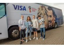 Infuencerzy w kampanii Visa