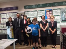 Leamington Spa child cancer survivor is special guest as Banbury optician celebrates its newly refurbished store