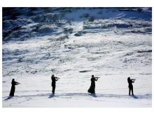 fire musikere vandrende svalbard web