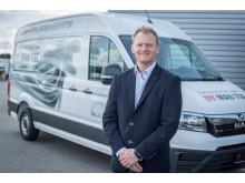 MANs varebilschef Nicolai Sperling ser frem til at kunne tilbyde både salg og service af den nye varebil MAN TGE fra den centrale placering på Avedøre Holme