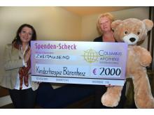 Columbus Apotheke International unterstützt im Jubiläumsjahr 2015 das Kinderhospiz Bärenherz