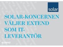 Solar-Koncernen väljer Extend som IT-Leverantör.