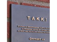 Gjutna skyltar Norska kyrkan, från clarex
