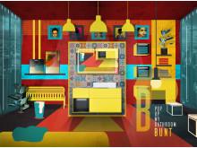 Design in kräftigen Farbklecksen: Buntes Bad für Freigeister