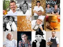 Kockar, bagare och konditorer som stöttar Svenska Bin med inspirerande recept med svensk honung.