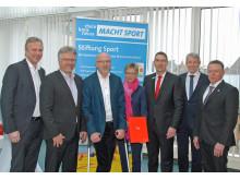 Stiftung Sport dankt Volker Staufert für Spende