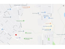 Översiktskarta till tomtvisning av BoKlok Sargen. Mötesplats markerad med rött.