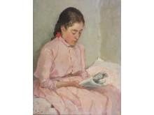"Ellen Thesleff ""Gerda"", 1889, olja på duk, 30x23"