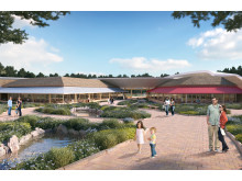 Artist's impression of the north entrance to the Village Centre