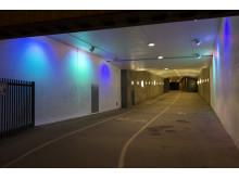 Ny ljussättning vid Karlbergstunneln