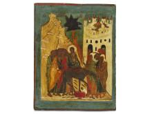 Russisk ikon af Jesu indtog i Jerusalem