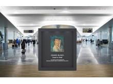 Munch at display at Oslo Airport