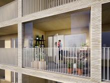Generösa balkonger som kan glasas in och användas för stadsodling