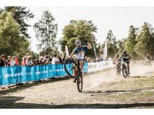 Anton Olstam målgång sprint SM 2018