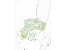 Knappstad - illustration över området