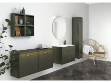 Bathroom furniture Graphic in new green colour. News September 2018