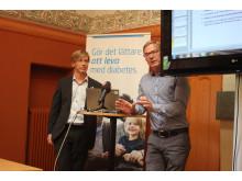 Fredrik Löndahl, Ordf. Diabetesförbundet och Dr Anders Lindh, Verksamhetschef, Husläkarna Österåker