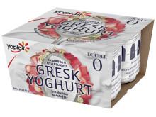 Yoplait gresk hylleblomst rabarbra