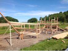 Woodwork AB bygger lekskepp på Tjolöholms Slott