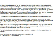 Sextortion email