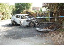 Burnt out car - Abdul Mayanja murder