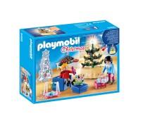 Festlich geschmückt: Das Weihnachtliche Wohnzimmer von PLAYMOBIL (9495)