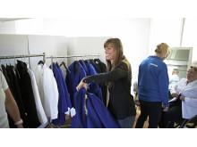 Helene Ripa under kandidatcampens klädprovning