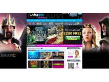 LuckyWinSlots.com Updates Homepage